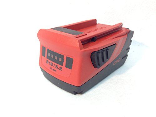 Hilti CPC B18 5.2ah 112wh 21.6v 18+ Volt Li-ion Cordless Tool Battery New Latest Model 2015 by HILTI