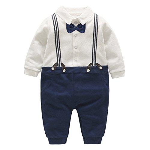 Famuka baby jongens Kostuums Blazers pak Babymode doop bruiloft pasgeboren romper jumpsuit
