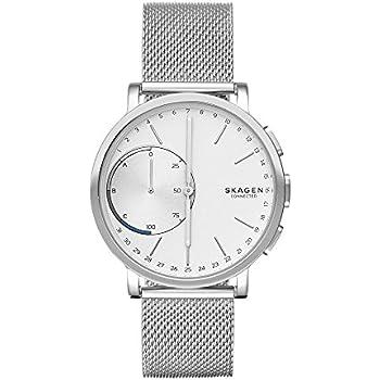 Skagen Hagen Stainless Steel Mesh Hybrid Smartwatch, Color Silver-Tone SKT1100