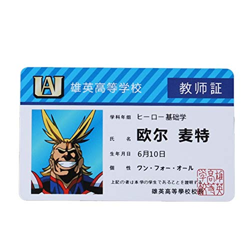 Bowinr My Hero Academia ID Card, Japanese Anime Waterproof PVC Collectible Photo Card for MHA Fans