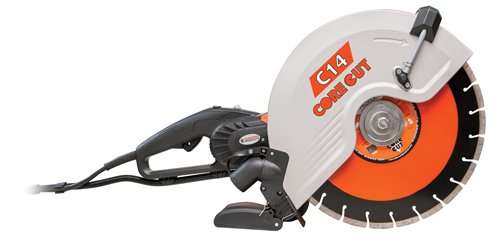 Diamond Products Core Cut 48975 C14 Electric Hand Wet and Dry Concrete Saw, (Electric Concrete Saw)