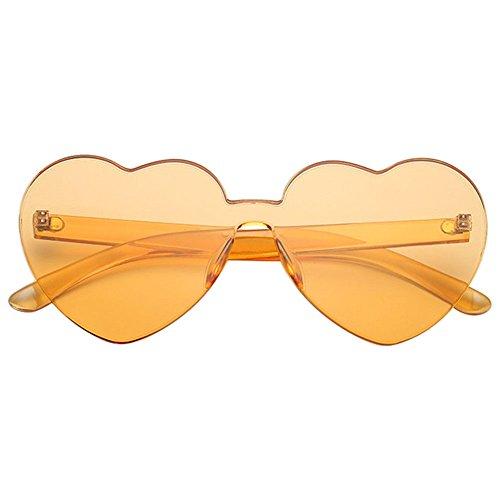 Unique 14 montura Protección Gafas de forma Spectacles corazón 5 sol Moda 14 Candy Colored Xinvision Lente Sin UV 5cm Bastidor UV400 En Gafas naranja Plástico 4 de xqY1wRP7