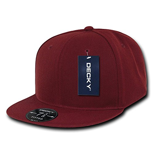 DECKY Retro Fitted Cap, Cardinal, 7 5/8