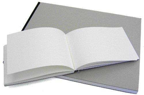 Hardcover-Skizzenbuch, 29 x 29 cm, 144 Seiten Projektbuch, Zeichenbuch, Einband Grau natur
