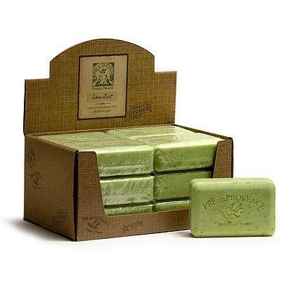 Case of 12 bars Pre de Provence 250g Lime Zest Shea Butter Enriched Triple Milled Soap - Lime Soap Bar