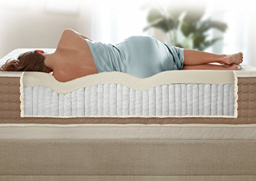 Eco Terra Natural Latex and Coil Spring Luxury Hybrid Mattress - Queen