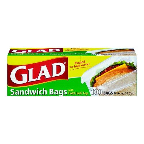 Glad - Bolsas de sándwich con cierre, 600 Bags