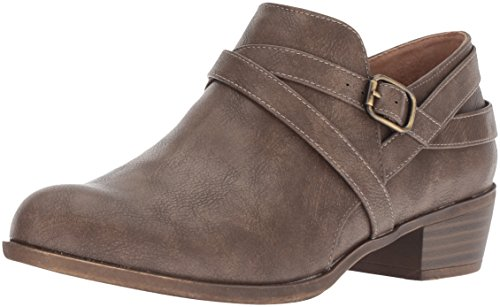 (LifeStride Women's Adley Ankle Boot, Taupe, 8.5 M US)