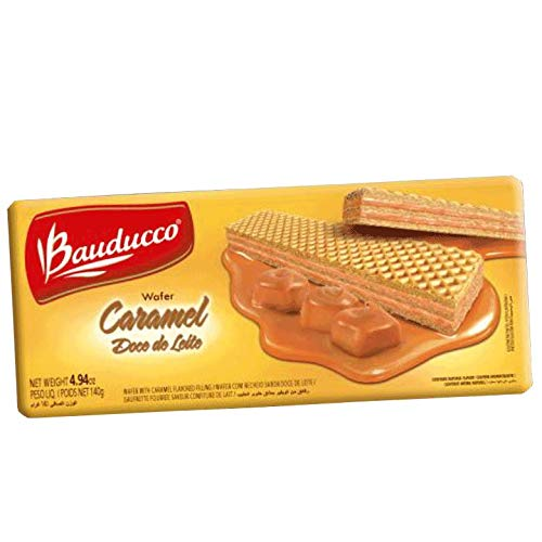 Amazon.com: BAUDUCCO Wafer Dulce de Leche 140 gr - Pack of 10 | Wafer with Caramel Spread 4.94 oz.