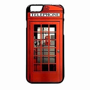 British Red Phone Booth iPhone 6 Plus / iPhone 6S Plus case (Black Plastic)