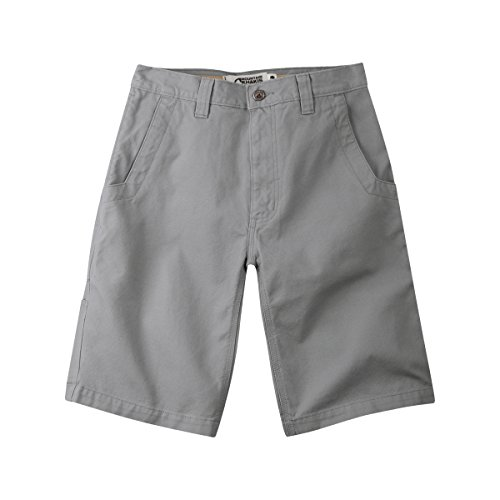 Mountain Short Cotton 100 (Mountain Khakis Men's Alpine Utility Short Relaxed Fit, Gunmetal, 36W 7In)