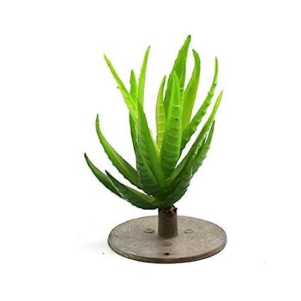 DealMux plástico verde del acuario terrario de la planta de decoración para Anfibios Reptiles Animales
