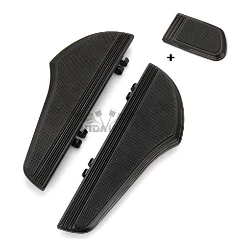 (Black CNC Defiance Rider Footboard brake pedal cover for harley davidson touring street glide FLHX driver floorboards FLHR FLTR FLHT softail slim 2000-2019)