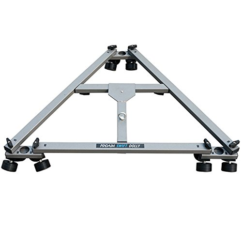 Proaim Swift Professional Heavy Duty Camera Tripod Dolly with wheels for DSLR Video Photography Film (SWFT-DL) | Compatible with Track & Jib
