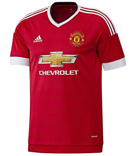 (adidas 2015-2016 Man Utd Home Football Soccer T-Shirt Jersey (Kids))