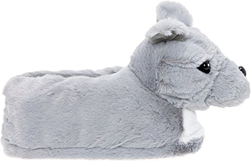 Silver Blue w Bull Pit Lilly Blue Dog Platform Plush Gray Pitbull Slippers Nose White Slippers rq4Fr5