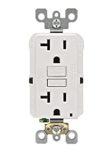 Leviton Self-Test SmartlockPro Slim GFCI Non-Tamper-Resistant Receptacle with LED Indicator