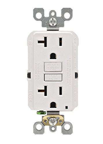 (Leviton GFNT2-3W Self-Test SmartlockPro Slim GFCI Non-Tamper-Resistant Receptacle with LED Indicator, 20-Amp, 3-Pack, White)