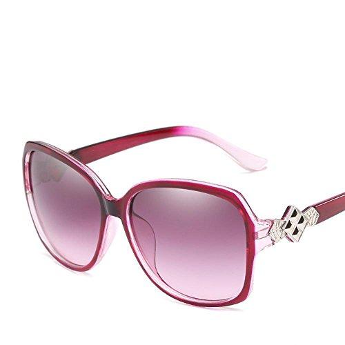 Aoligei Europe et les États-Unis généreux cadre Dame décoratif élégant lumière anti-UV lunettes soleil Lunettes F