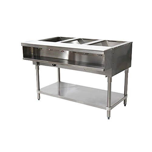 Advance Tabco WB-3G-LP LP Gas Water Bath Hot Food Table