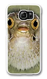 Big Face Blow Fish Custom Samsung Galaxy S6/Samsung S6 Case Cover Polycarbonate White