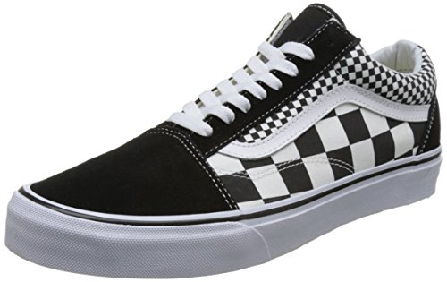 Vans Unisex Adults' Old Skool Trainers, Black ((Mix Checker) Black/True White Q9B), 11.5 US Womens/10 US Men ()