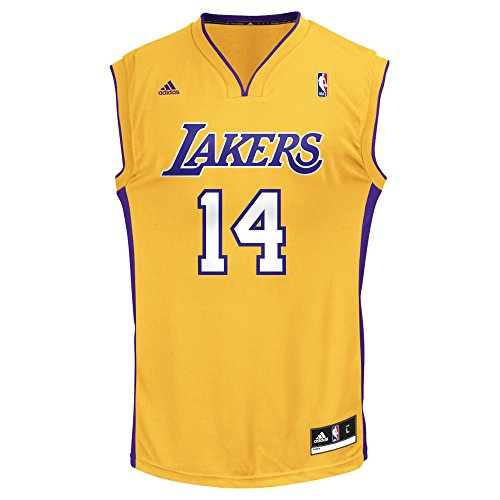Lakers Authentic Jersey - NBA Men's Los Angeles Lakers Ingram Replica Player Home Jersey, Large, Yellow
