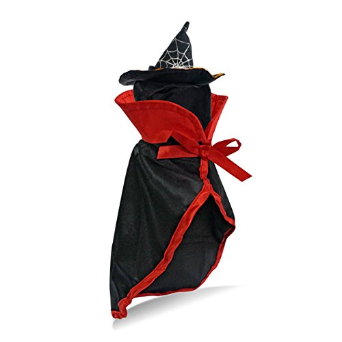 Kittens In Costumes (Cat Halloween Costume Witch Wizard Cloak with Hat By LESYPET - Cute Halloween Pet Costume for Yorkies, Maltese, Puppies, Cats, & Kittens)