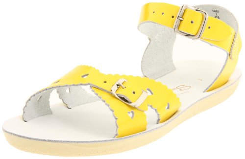 Salt Water Sandals Sweetheart,Shiny Yellow,3M US Big Kid/5M US Women