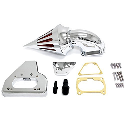 Krator® 2002-2009 Honda VTX 1800 Cruiser High Quality Chrome Billet Aluminum Cone Spike Air Cleaner Kit Intake Filter Motorcycle