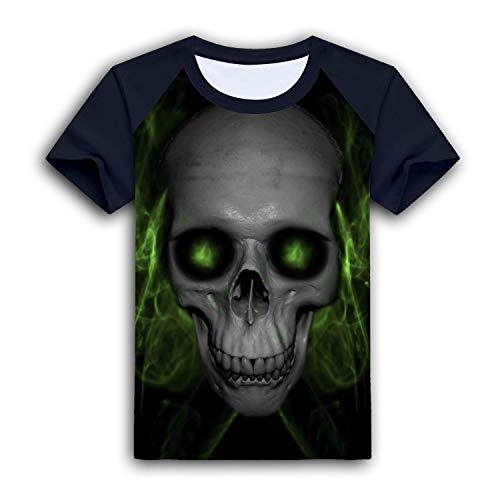 Vtx T-shirt - Hanqingbb Printed Shoulder Bone Short for Kid Nice Sleeves Shirt Tee Black XS