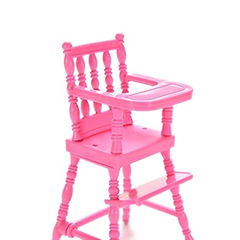 Estore DollHouse Furniture High Chair Toy for Barbie Doll's House Furniture - Doll Furniture High Chair