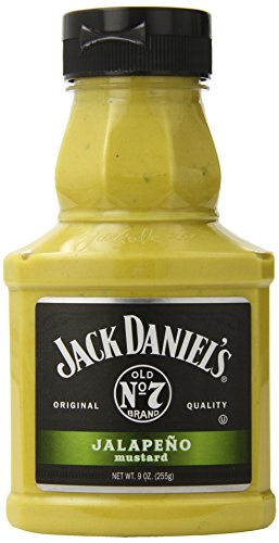 Jack Daniels Mustard, Jalapeno, 9 Ounce (Pack of 6)