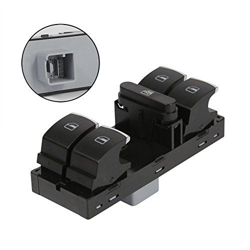 Master Driver Power Window Switch 5ND959857 1K4959857B 5K4959857 Front LH for VW Volkswagen CC Golf Jetta Passat Tiguan 2005 2006 2007 2008 2009 2010 2011 2012 2013 by -