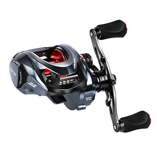 Goture Ares-Max Baitcasting Fishing Reel 22LB Carbon Fiber Drag, 6.3:1 Low Profile Baitcaster Reel with Magnetic Brake System10+1 Shielded Bearings Saltwater Freshwater