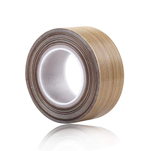 (PTFE Coated Fiberglass Telfon Tape,high Temperature Tape;Drying Mechanical Conveyor Belt; Welding Sealing Tape; -196℃ - +300℃ ... (Brown, 25mm x 12yards x 0.18mm))