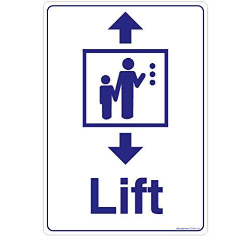 Safety Sign Store GS856-A5AL-01 Lift Material ACP 1 Mm Pack Of 1 148 L X 210 W Acp Lift