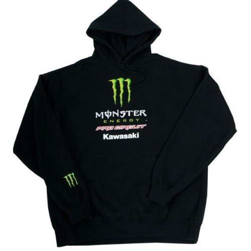 Pro Racing Hoody (Pro Circuit Monster Hoody , Distinct Name: Black, Size: Md, Gender: Mens/Unisex, Primary Color: Black PC0426-0220)