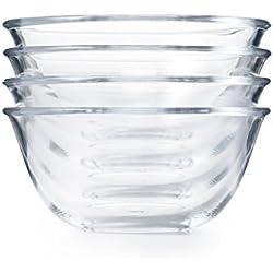 4-Piece Glass Prep Bowl Set