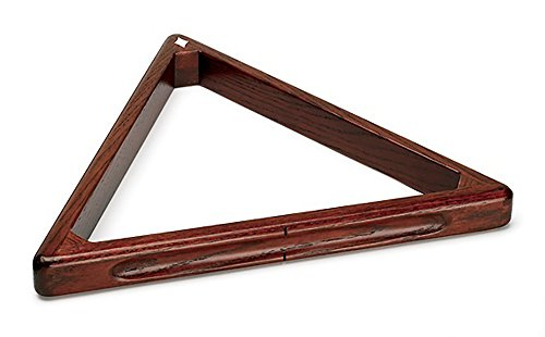 Diamond Billiards Triangle Ball Rack - Cherry Stained Oak