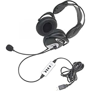 Usb Headphones Wired With Unidirectional Mic By Ergoguys