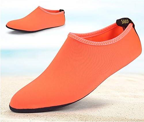新しいオレンジ色の女性と男性のダイビングソックス大人のビーチ通気性の上流の靴速乾性シュノーケリングソックス ポータブル (色 : Orange, Size : US8)