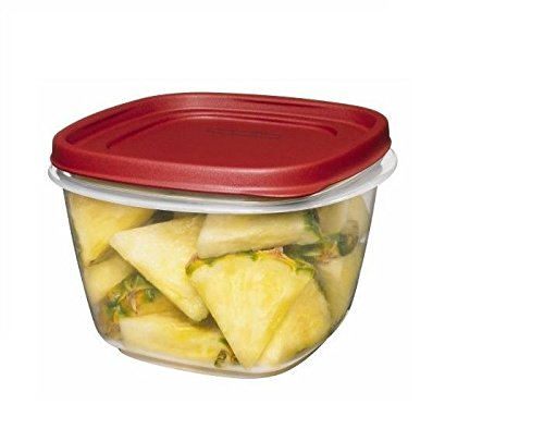 Rubbermaid Easy Find Lids Square 7-Cup Food Storage Container Pack of 3