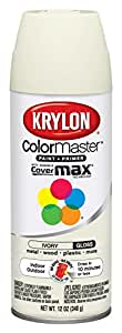 Krylon 51504 Ivory Interior and Exterior Decorator Paint - 12 oz. Aerosol