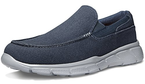 TF-RX400-NVY_Men 9 D(M) Tesla Men's Slip-on Loafer Performance Sport Active Fashion Cushion Sneaker RX400