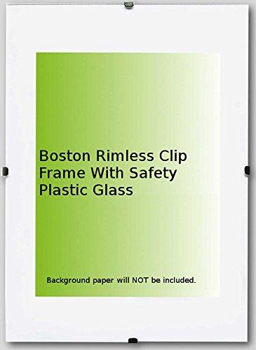 Boston Photo Picture Rimless Clip Frame 11,8 x 15,7 Inch ( 40 x 30 ...