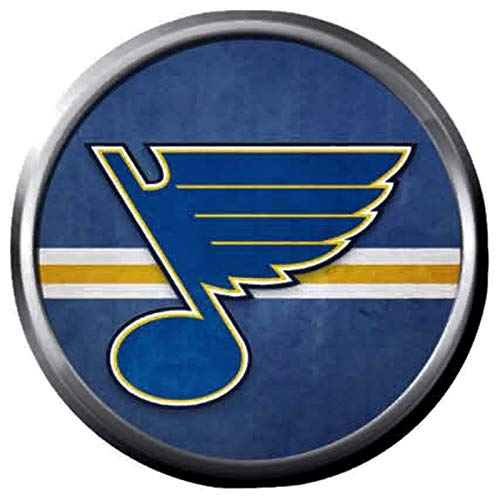 Vintage Cool NHL Hockey Logo St Louis Blues Note Logo 18MM - 20MM Fashion Snap Jewelry Snap Charm