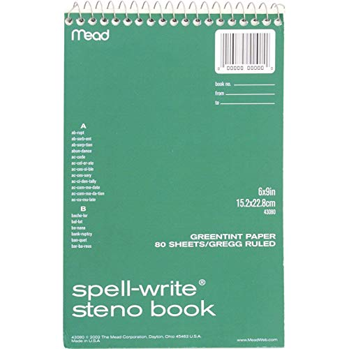 MEA43080 - Mead Spell-Write Steno Book