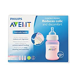 Philips Avent Anti-colic Baby Bottles Clear, 4 Ounce (3 Count)