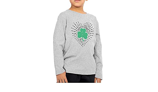 CERTONGCXTS Baby Girls Little Boys Irish Shamrock ComfortSoft Long Sleeve T-Shirt